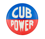 Cub Power Blue and Red Chicago Button Museum