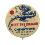Meet The Dragon in Chinatown Chicago Button Museum