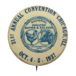 National Poultry Butter and Eggs Convention Chicago Button Museum