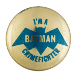 Batman Crimefighter Club Entertainment Button Museum