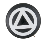 Circle and Triangle Symbol Club Button Museum