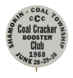 Coal Cracker Booster Club Club Button Museum