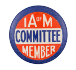 IA of M Committee Member Club Button Museum