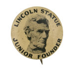 Lincoln Statue Junior Founder Club Button Museum