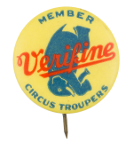 Member Circus Troupers Club Button Museum