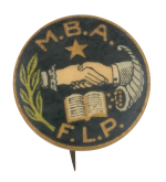 Modern Brotherhood of America Club Button Museum