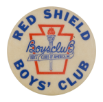 Red Shield Boys' Club Club Button Museum