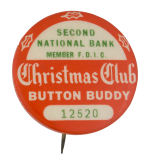 Second National Bank Christmas Club Club Button Museum