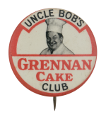 Uncle Bob's Grennan Cake Club Club Button Museum
