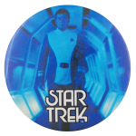 Captain Kirk Blue Star Trek Entertainment Button Museum