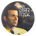 Captain Kirk Yellow Shirt Star Trek Entertainment Button Museum
