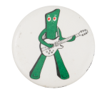 Gumby with Guitar Entertainment Button Museum