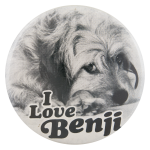 I Love Benji Entertainment Button Museum