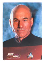 Jean Luc Picard Star Trek Entertainment Button Museum