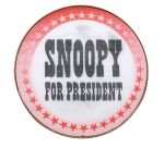 Snoopy For President Entertainment Button Museum