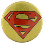 Superman Gold Entertainment Button Museum