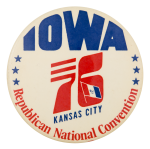 1976 Republican National Convention Kansas Event Button Museum