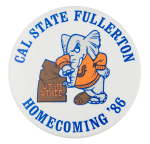 Cal State Fullerton Homecoming 1986 Event Button Museum