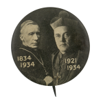 Cardinal Gibbons and Bishop Curley of Baltimore Event Button Museum