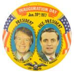 Carter Mondale Inauguration Day Event Button Museum