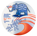 Catch the Georgia GOP Bush Wave Event Button Museum