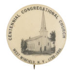Centennial Congregational Church Event Button Museum