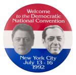 Democratic National Convention 1992 Event Button Museum