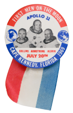 First Men on the Moon Event Button Museum