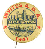 Houston Invites A.D.A. Events Button Museum