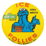 Ice Follies Cookie Monster Event Button Museum