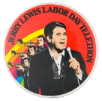 Jerry Lewis Labor Day Telethon Entertainment Button Museum
