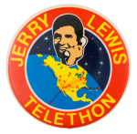 Jerry Lewis Telethon with phone Event Button Museum