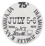 Kanawha Diamond Jubilee Event Button Museum