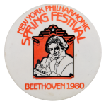 New York Philharmonic Spring Festival Event Button Museum
