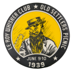 Old Settlers Picnic Event Button Museum