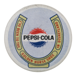 Pepsi Cola Golden Horse Shoe Event Button Museum