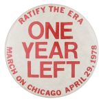 Ratify the ERA March on Chicago Event Button Museum