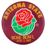 Rose Bowl 1987 Event Button Museum
