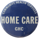 Home Care Advertising Button Museum