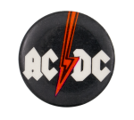 AC/DC Red Lightening Bolt Music Button Museum