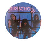 Girlschool Screaming Blue Murder Music Button Museum