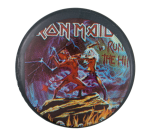 Iron Maiden Run to the Hills Music Button Museum