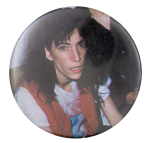 Patti Smith Red Vest Music Button Museum