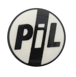 Public Image Ltd Black and White Music Button Museum