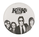 The Kinks Low Budget Black and White Music Button Museum