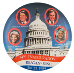 51st Inauguration Reagan Bush Political Button Museum