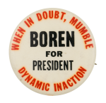 Boren for President Political Button Museum