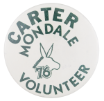 Carter Mondale Volunteer Club Button Museum