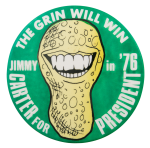 Carter The Grin Will Win Political Button Museum