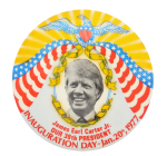 Jimmy Carter Inauguration Yellow Political Button Museum